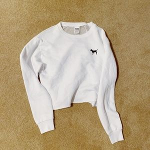 VS Pink White Crewneck